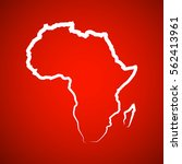 sketch african continent flat... | Shutterstock .eps vector #562413961