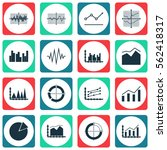 set of graphs  diagrams and... | Shutterstock . vector #562418317