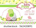 spa party invitation card | Shutterstock .eps vector #562420891