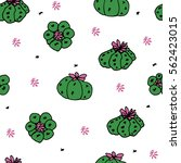 seamless vector pattern with... | Shutterstock .eps vector #562423015