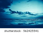 sea and beach chairs with white ... | Shutterstock . vector #562425541