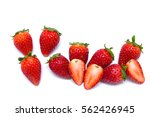 strawberry isolated on white... | Shutterstock . vector #562426945