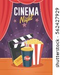 cinema night. can be used for... | Shutterstock .eps vector #562427929