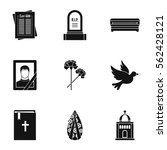 death icons set. simple... | Shutterstock .eps vector #562428121