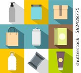 package icons set. flat... | Shutterstock .eps vector #562428775