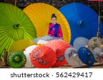 portrait of beautiful thai... | Shutterstock . vector #562429417