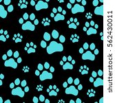 paw print seamless. traces of... | Shutterstock .eps vector #562430011