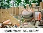 Cement Mixer At A Construction...