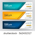 Stock vector abstract web banner design background or header templates 562431517