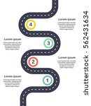 infographic template four steps ... | Shutterstock .eps vector #562431634