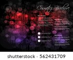 vector black red purple... | Shutterstock .eps vector #562431709