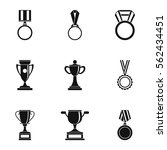 competition icons set. simple... | Shutterstock .eps vector #562434451