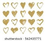 valentine day gold glitter... | Shutterstock .eps vector #562435771