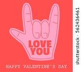 foam hand love gesture happy... | Shutterstock .eps vector #562436461
