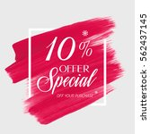 sale special offer 10  off sign ... | Shutterstock .eps vector #562437145