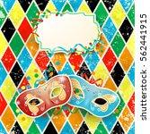 carnival illustration with... | Shutterstock .eps vector #562441915