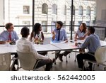 corporate business team and... | Shutterstock . vector #562442005