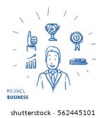 happy modern business man  with ... | Shutterstock .eps vector #562445101