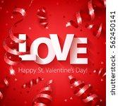 happy valentine's day love...   Shutterstock .eps vector #562450141