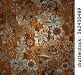 raster floral seamless pattern... | Shutterstock . vector #562450489