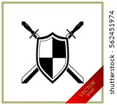 sword and shield icon | Shutterstock .eps vector #562451974