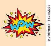 comic sound effects in pop art... | Shutterstock .eps vector #562452319