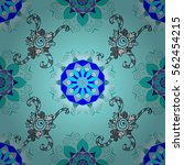 mandala. raster boho chic... | Shutterstock . vector #562454215