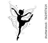 silhouette of beautiful fairy....   Shutterstock .eps vector #562457614