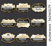 luxury premium golden labels... | Shutterstock .eps vector #562463179