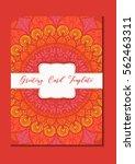 mandala vintage template card... | Shutterstock .eps vector #562463311