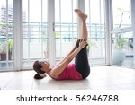 young fitness woman doing her... | Shutterstock . vector #56246788