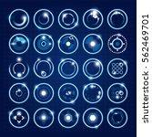 futuristic icons. set of...