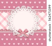 baby shower for girl  pink... | Shutterstock .eps vector #562471099