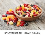 dried fruits and berries | Shutterstock . vector #562473187