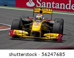 VALENCIA, SPAIN - JUNE 27: Formula 1 Valencia Street Circuit - Kubica - June 27, 2010 in Valencia, Spain - stock photo