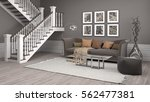 interior with sofa. 3d... | Shutterstock . vector #562477381