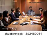 corporate business people at an ...   Shutterstock . vector #562480054
