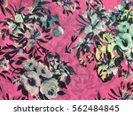the beautiful of art fabric... | Shutterstock . vector #562484845