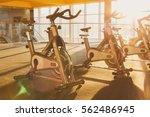 modern gym interior with... | Shutterstock . vector #562486945