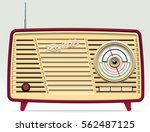 retro radio illustration. | Shutterstock .eps vector #562487125