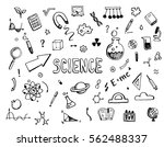 hand drawn set of cartoon... | Shutterstock .eps vector #562488337