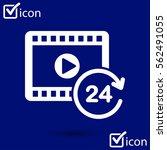 streaming video symbol. movie...