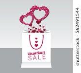 valentine s day  sale background   Shutterstock .eps vector #562491544
