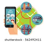 car service application. auto... | Shutterstock .eps vector #562492411