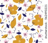 vector flower pattern.... | Shutterstock .eps vector #562493221