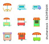 mobile shop for street icons...   Shutterstock .eps vector #562493644
