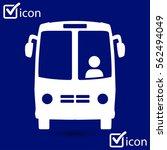 bus icon. schoolbus symbol.... | Shutterstock .eps vector #562494049