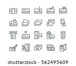 credit card. set of outline... | Shutterstock .eps vector #562495609