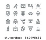security. set of outline vector ... | Shutterstock .eps vector #562495651