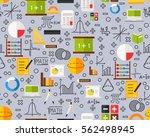 vector flat seamless texture... | Shutterstock .eps vector #562498945